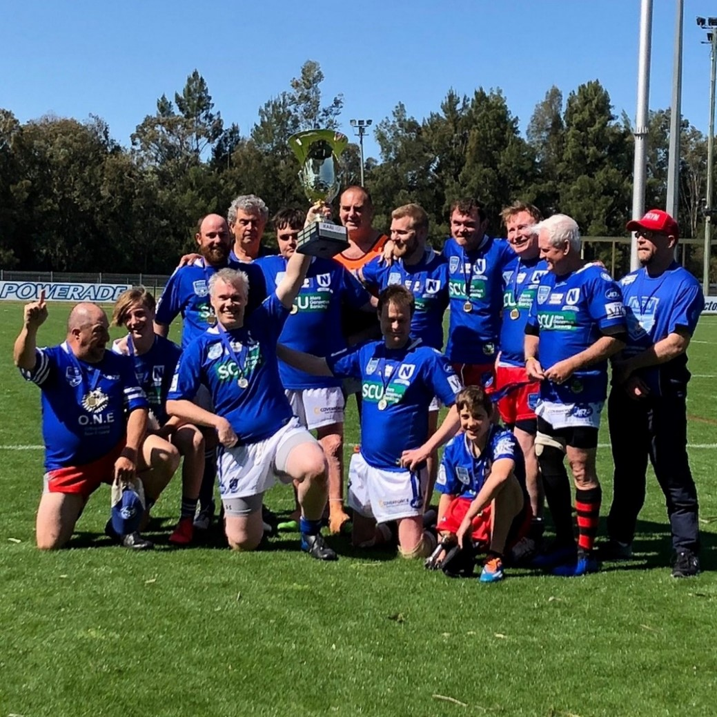 2019 KARI Premiership winners holding the cup - NSWPDRLA Newtown Jets